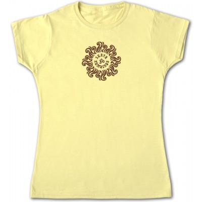 BAP Surya Namaskar női környakas pamutpóló