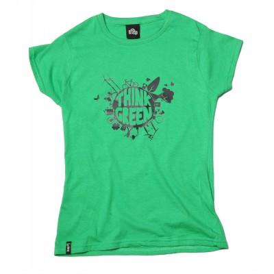 BAP Think Green női környakas pamutpóló