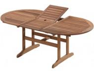 Kerti asztal, ovális, kihúzható