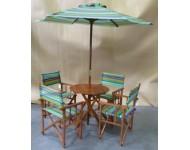 Kerti szett - asztal+4 szék+napernyő